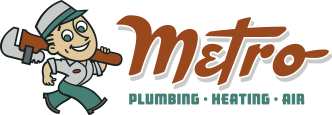 Metro Plumbing, Heating and Air Logo